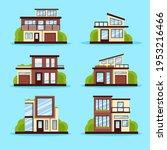 house collection. modern...   Shutterstock .eps vector #1953216466