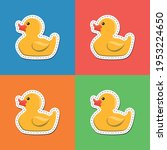 vector image. sticker of a cute ... | Shutterstock .eps vector #1953224650