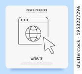 website thin line icon. global... | Shutterstock .eps vector #1953227296