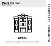 hospital building thin line... | Shutterstock .eps vector #1953228853
