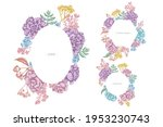 floral frames with pastel wax... | Shutterstock .eps vector #1953230743