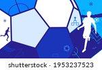 vector illustration of soccer... | Shutterstock .eps vector #1953237523