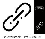 link vector stylish line icon...