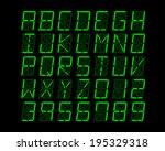 digital alphabet design  ... | Shutterstock .eps vector #195329318