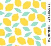 fresh lemons seamless pattern ... | Shutterstock .eps vector #1953302116
