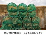 Lobster And Crab Traps Stack In ...
