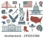 symbols of the usa | Shutterstock .eps vector #195331586