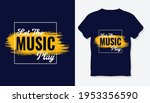 let the music play t shirt... | Shutterstock .eps vector #1953356590