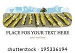 grape fields. vineyards. | Shutterstock .eps vector #195336194