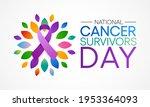 national cancer survivors day... | Shutterstock .eps vector #1953364093