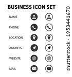 business communication icon set ...