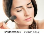 makeup applying  closeup.... | Shutterstock . vector #195344219