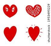 set of illustrations of doodle... | Shutterstock .eps vector #1953495229