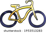 Low Rider Bicycle Icon In...