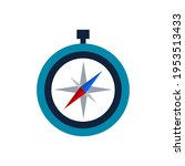 compass color icon. cartoon... | Shutterstock .eps vector #1953513433