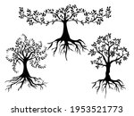 tree with roots icon vector... | Shutterstock .eps vector #1953521773