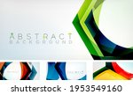 abstract hexagons background.... | Shutterstock .eps vector #1953549160
