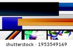 vector abstract background set. ... | Shutterstock .eps vector #1953549169