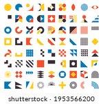 bauhaus elements. modern... | Shutterstock .eps vector #1953566200