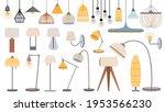 cartoon lamps. cozy flat... | Shutterstock .eps vector #1953566230