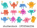 abstract characters. geometric... | Shutterstock .eps vector #1953566236