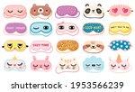 masks for dreaming. night mask... | Shutterstock .eps vector #1953566239