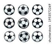 set of soccer balls of various... | Shutterstock .eps vector #1953572269
