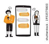 communication  dialog ... | Shutterstock .eps vector #1953575803