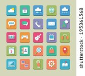 set of flat web icons for web ... | Shutterstock .eps vector #195361568