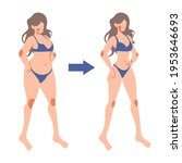 before and after of woman... | Shutterstock .eps vector #1953646693