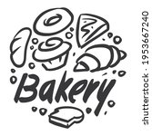 bakery graphics are combined... | Shutterstock .eps vector #1953667240
