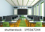 multimedia classroom with... | Shutterstock . vector #195367244