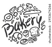 bakery graphics are combined... | Shutterstock .eps vector #1953674266
