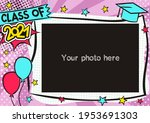 graduation photo frame in pop... | Shutterstock .eps vector #1953691303