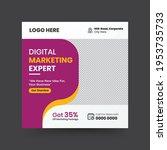 digital marketing agency social ... | Shutterstock .eps vector #1953735733
