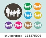 pictograms people man icon sign ... | Shutterstock .eps vector #195375008