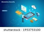 biometrics security  man use...   Shutterstock .eps vector #1953753100