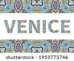 venice sign lettering with... | Shutterstock .eps vector #1953773746
