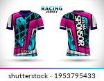sports racing jersey design.... | Shutterstock .eps vector #1953795433