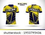 sports racing jersey design....   Shutterstock .eps vector #1953795436