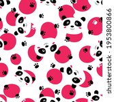 seamless pattern with cute...   Shutterstock .eps vector #1953800866