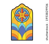 glass vector cartoon icon.... | Shutterstock .eps vector #1953829936