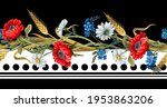 border with botanical flowers... | Shutterstock .eps vector #1953863206