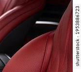 Leather Material In Modern Car. ...