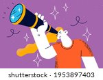 searching for somebody ... | Shutterstock .eps vector #1953897403