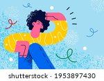 searching and looking for... | Shutterstock .eps vector #1953897430