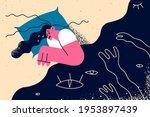 depression  grief  mental...   Shutterstock .eps vector #1953897439