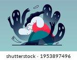 mental problems  depression ... | Shutterstock .eps vector #1953897496