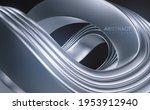 silver wave. curvy metallic...   Shutterstock .eps vector #1953912940