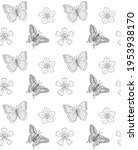 vector seamless pattern of hand ... | Shutterstock .eps vector #1953938170